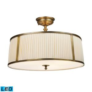 Williamsport - 38W 4 LED Semi-Flush Mount in Traditional Style with Country/Cottage and Victorian inspirations - 14 Inches tall and 20 inches wide
