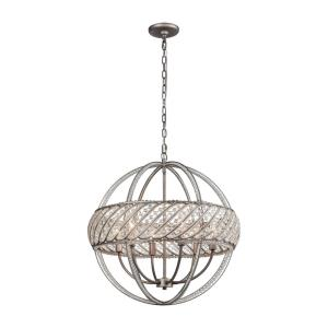 Bradington - 6 Light Pendant in Modern/Contemporary Style with Luxe/Glam and Mid-Century Modern inspirations - 24 Inches tall and 23 inches wide