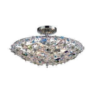 Crystallus - Six Light Semi-Flush Mount