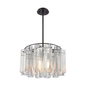 Cubic Glass - Three Light Chandelier
