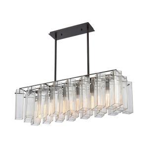 Cubic Glass - Six Light Chandelier
