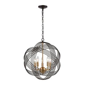 Concentric - 5 Light Pendant in Modern/Contemporary Style with Mid-Century and Art Deco inspirations - 21 Inches tall and 19 inches wide