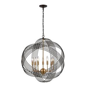 Concentric - 7 Light Chandelier in Modern/Contemporary Style with Mid-Century and Art Deco  inspirations - 28 Inches tall and 26 inches wide