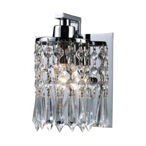 Optix - 1 Light Bath Vanity in Modern/Contemporary Style with Luxe/Glam and Boho inspirations - 7 Inches tall and 5 inches wide
