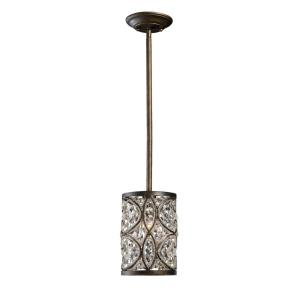 Amherst - 1 Light Mini Pendant in Traditional Style with Victorian and Luxe/Glam inspirations - 9 Inches tall and 6 inches wide