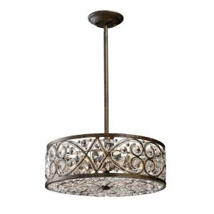 Amherst - 6 Light Chandelier in Traditional Style with Victorian and Luxe/Glam inspirations - 8 Inches tall and 17 inches wide