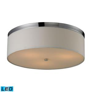 "17"" 28.5W 3 LED Flush Mount in Modern/Contemporary Style with Art Deco and Retro inspirations - 6 Inches tall and 17 inches wide"