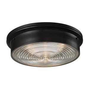Chadwick - 3 Light Flush Mount in Transitional Style with Urban/Industrial and Art Deco inspirations - 5 Inches tall and 15 inches wide