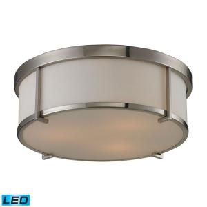 """15"""" 28.5W 3 LED Flush Mount in Transitional Style with Urban/Industrial and Art Deco inspirations - 5 Inches tall and 15 inches wide"""
