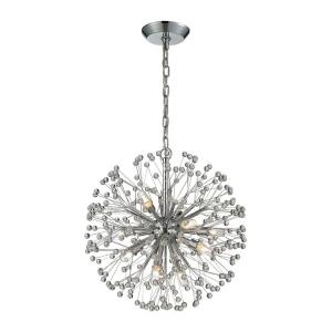 Starburst - 9 Light Chandelier in Modern/Contemporary Style with Mid-Century and Luxe/Glam inspirations - 21 Inches tall and 18 inches wide