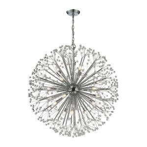 Starburst - 9teen Light Chandelier in Modern/Contemporary Style with Mid-Century and Luxe/Glam inspirations - 40 Inches tall and 36 inches wide