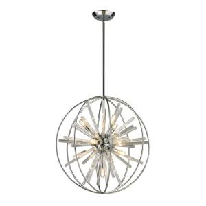 Twilight - 10 Light Chandelier in Modern/Contemporary Style with Mid-Century and Luxe/Glam inspirations - 22 Inches tall and 22 inches wide