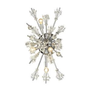 Starburst - 4 Light Wall Sconce in Modern/Contemporary Style with Luxe/Glam and Mid-Century Modern inspirations - 26 Inches tall and 13 inches wide