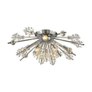 Starburst - 8 Light Semi-Flush Mount in Modern Style with Luxe and Mid-Century Modern inspirations - 9 Inches tall and 26 inches wide