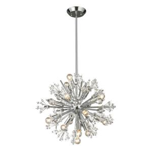 Starburst - Fifteen Light Chandelier in Modern Style with Luxe and Mid-Century Modern inspirations - 18 Inches tall and 20 inches wide