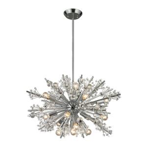 Starburst - 9teen Light Chandelier in Modern/Contemporary Style with Luxe/Glam and Mid-Century Modern inspirations - 17 Inches tall and 26 inches wide