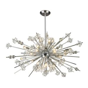 Starburst - Twenty-9 Light Chandelier in Modern Style with Luxe and Mid-Century Modern inspirations - 20 Inches tall and 48 inches wide