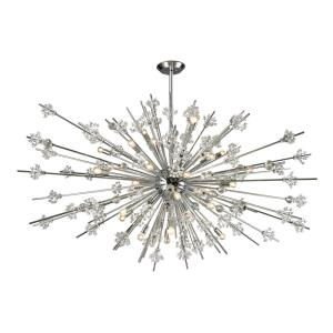 Starburst - Thirty-1 Light Chandelier in Modern Style with Luxe and Mid-Century Modern inspirations - 36 Inches tall and 72 inches wide