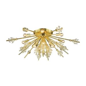 Starburst - Twelve Light Semi-Flush Mount