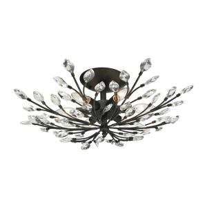 Crystal Branches - Six Light Semi-Flush Mount
