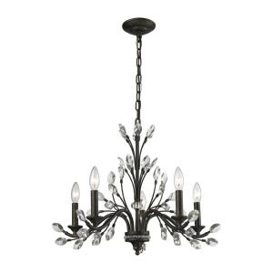 Crystal Branches - Five Light Chandelier
