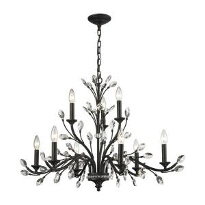 Crystal Branches - Nine Light Chandelier