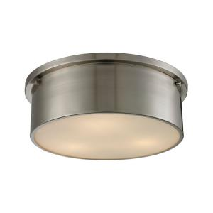 Simpson - 3 Light Flush Mount in Modern/Contemporary Style with Art Deco and Retro inspirations - 5 Inches tall and 14 inches wide