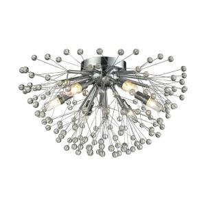 Starburst - 6 Light Flush Mount in Modern/Contemporary Style with Boho and Luxe/Glam inspirations - 10 Inches tall and 19 inches wide