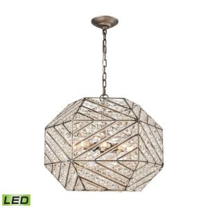 Constructs - 20 Inch 38.4W 8 LED Chandelier