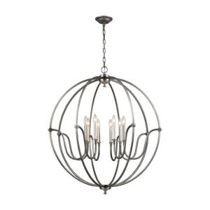 Stanton - 8 Light Chandelier in Transitional Style with Mid-Century and Country/Cottage inspirations - 40 Inches tall and 35 inches wide