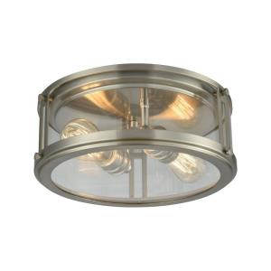Coby - 2 Light Flush Mount in Transitional Style with Art Deco and Urban/Industrial inspirations - 5 Inches tall and 13 inches wide