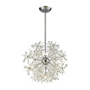 Snowburst - 7 Light Chandelier in Modern/Contemporary Style with Luxe/Glam and Mid-Century Modern inspirations - 20 Inches tall and 20 inches wide