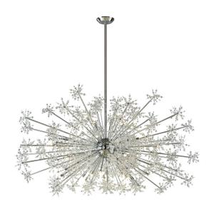 Snowburst - Thirty Light Chandelier in Modern Style with Luxe and Mid-Century Modern inspirations - 37 Inches tall and 72 inches wide