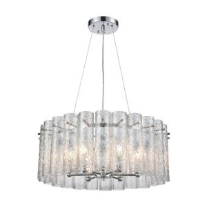 Glass Symphony - 6 Light Chandelier in Modern/Contemporary Style with Art Deco and Retro inspirations - 9 Inches tall and 23 inches wide