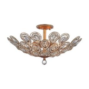 Evolve - 8 Light Semi-Flush Mount in Traditional Style with Luxe/Glam and Victorian inspirations - 13 Inches tall and 24 inches wide