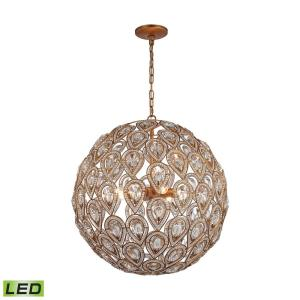 Evolve - 21 Inch 38.4W 8 LED Chandelier
