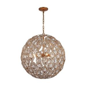 Evolve - 8 Light Chandelier in Traditional Style with Luxe/Glam and Victorian inspirations - 23 Inches tall and 21 inches wide
