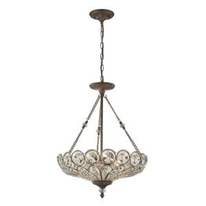 Christina - 5 Light Pendant in Traditional Style with Victorian and Luxe/Glam inspirations - 26 Inches tall and 20 inches wide