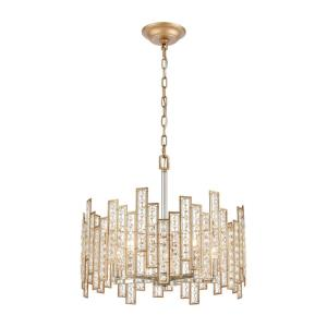 Equilibrium - 5 Light Chandelier in Modern/Contemporary Style with Luxe/Glam and Boho inspirations - 11 Inches tall and 19 inches wide