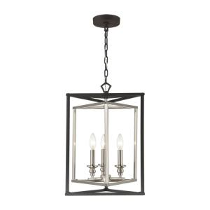 Salinger - 3 Light Pendant in Modern/Contemporary Style with Luxe/Glam and Retro inspirations - 18 Inches tall and 16 inches wide