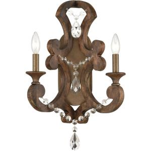 San Sebastian - 2 Light Wall Sconce in Traditional Style with French Country and Vintage Charm inspirations - 21 Inches tall and 14 inches wide