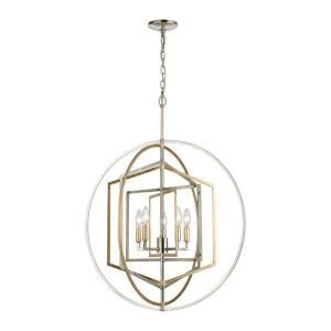 Geosphere - Five Light Chandelier