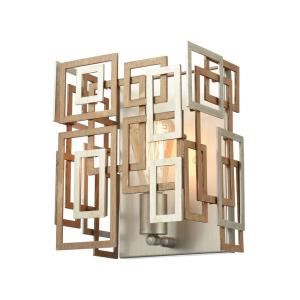 Gridlock - 1 Light Wall Sconce in Modern/Contemporary Style with Luxe/Glam and Asian inspirations - 10 Inches tall and 9 inches wide