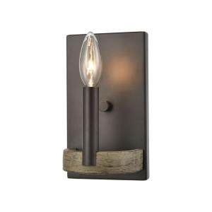 Transitions - 1 Light Wall Sconce in Transitional Style with Modern Farmhouse and French Country inspirations - 8 Inches tall and 5 inches wide