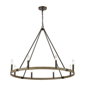 Transitions - 8 Light Chandelier in Transitional Style with Modern Farmhouse and French Country inspirations - 30 Inches tall and 36 inches wide