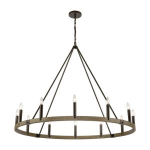 Transitions - 12 Light Chandelier in Transitional Style with Modern Farmhouse and French Country inspirations - 40 Inches tall and 50 inches wide