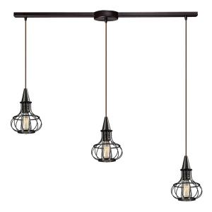 Yardley - 3 Light Linear Pendant in Transitional Style with Urban/Industrial and Country/Cottage inspirations - 11 Inches tall and 5 inches wide