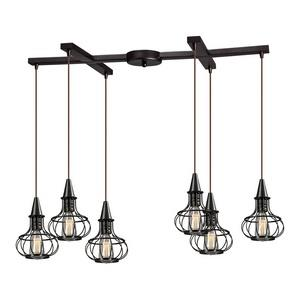 Yardley - Six Light H-Bar Pendant