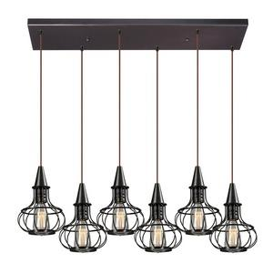 Yardley - Six Light Rectangular Pendant