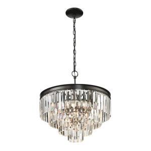 Palacial - 5 Light Chandelier in Traditional Style with Art Deco and Luxe/Glam inspirations - 21 Inches tall and 20 inches wide